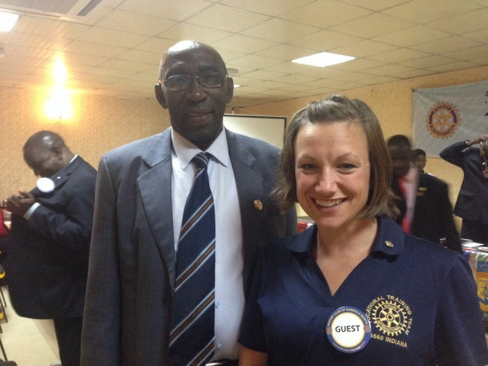 A proper picture of PP Sara Joyner and Rotarian Sam!  Thank you, Sam!