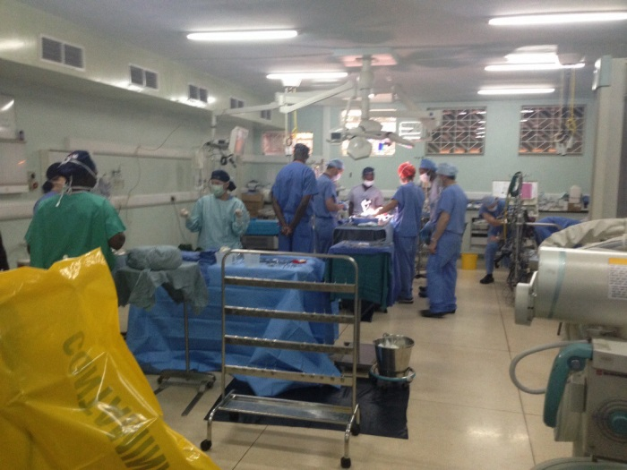 The UHI and Riley/Rotary Teams readying for surgery on little Shanel