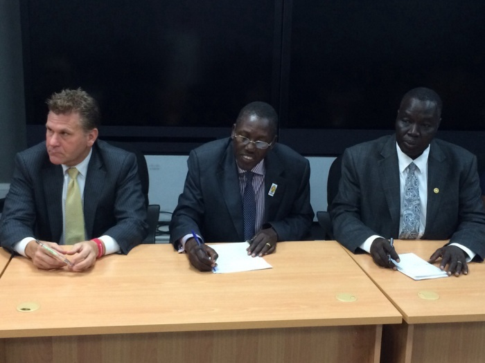 ROb Raylman, GOLI, Dr. Omagino, UHI, and Director from the Ministry of Health