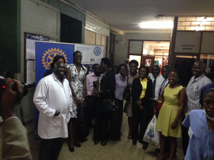 Rotarians visit the team and the children!