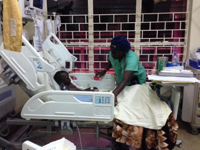 Nurse Anna with Fredrick