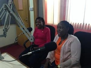 Grace Agwaru, Global Ambassador for Gift of Life International, and President Jane of RC Kampala North.