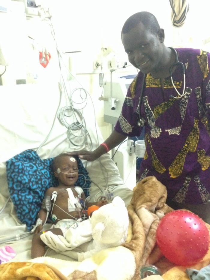 Princess with Dr. Aliku (Pediatric Cardiologist from Northern Uganda)